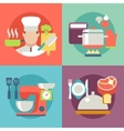 cooking process delicious food best recipes icons vector image vector image