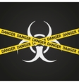 danger tape biohazard vector image