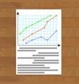 economic infochart diagram vector image vector image