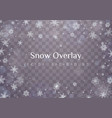 falling christmas snow vector image