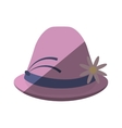 female hat elegant isolated icon vector image vector image