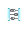 financial calculations thin line stroke vector image