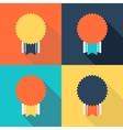 Flat design medals vector image vector image