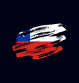 grunge textured chilean flag vector image