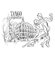 Hand made sketch of tango dancers vector image vector image