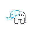 indian elephant linear icon concept indian vector image vector image