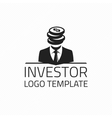 Investor logo template vector image vector image
