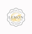 lemon badge or logo template hand drawn lemons vector image vector image
