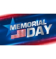 Lettering Memorial Day on the background vector image vector image