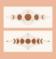 magic moon with sacred geometry tattoo design vector image vector image