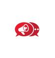 megaphone and loudspeaker amplifier logo design vector image vector image