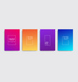 minimal covers design colorful halftone vector image vector image