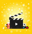 movie background with set icon vector image vector image