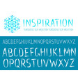Painted hand drawn abc font vector image