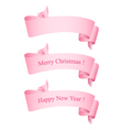 Pink Ribbons Isolated on White vector image vector image