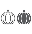 pumpkin line and glyph icon vegetable vector image vector image