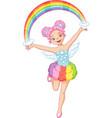 rainbow fairy vector image vector image