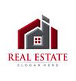 real estate bevel logo design template vector image
