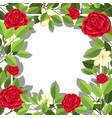 red flower leaf template vector image vector image