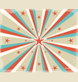 retro circus radial rays background vector image vector image