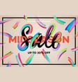sale banner template midseason vector image