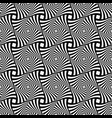 seamless op art geometric pattern vector image vector image