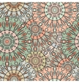 seamless pattern with flowery mandalas vector image vector image