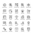 search engine and optimization master icons vector image vector image