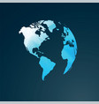 simple blue world map vector image vector image