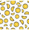slices fresh lemon on white background pattern vector image