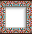 square frame with curly ornamental border vector image vector image