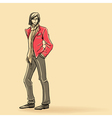 Stylish man in glasses vector image vector image