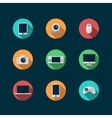 technology and devices icons set vector image