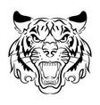 tiger logo black white a tiger vector image vector image