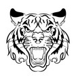 tiger logo black white a vector image vector image