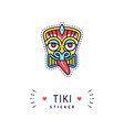 tiki sticker or badge icon isolated vector image