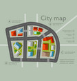top view city map vector image