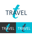 travel logo letter t logo logo template vector image vector image