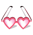 Valentine pink glasses vector image vector image