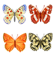 Various butterflies mountain meadow and forest vector image vector image