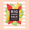 vertical poster on big summer sale theme bright vector image vector image