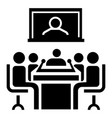 video conference icon simple style vector image