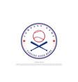 vintage hipster crossed bat baseball sport club vector image vector image