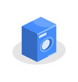washing machine isometric icon on a white vector image