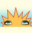 women eyes look up vector image vector image