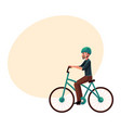 young man guy riding urban bicycle cycling in vector image vector image