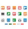 button media tools icon set vector image