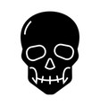 skull icon black sign on vector image