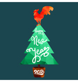Happy New 2017 Year Lettering vector image