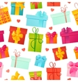 seamless pattern gift background vector image